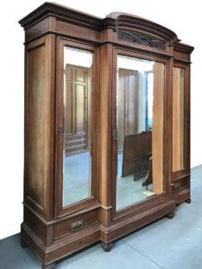armadio 3 ante legno massello